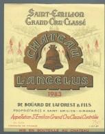 étiquette Vin Chateau  L'Angelus Saint Emilion Grand Cru Classé  1983  De Boüard De Laforest & Fils Propriétaires - Bordeaux