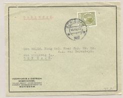 Nederland - 1931 - 25 Cent Veth Enkelfrankering Op  Drukwerk Adreslabel Van Schiedam Naar Den Haag - Brieven En Documenten