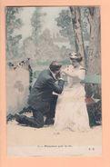 Cpa Carte Postales Anciennes - Fantaisie Couple Fk Promesses Pour La Vie 5 - Coppie