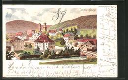 Lithographie Frauenalb, Totalansicht Aus Der Vogelschau - Germania