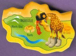 Magnet Brossard : Mongolie Monts Altai Yourte Désert De Gobi Girafe - Magnets
