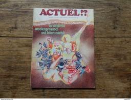 ANCIENNE REVUE UNDERGROUND / ACTUEL   N° 3 / NVLE SERIE   /  DECEMBRE. 1970 - Autre Magazines