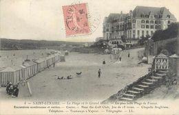 """CPA FRANCE 35 """"Saint Lunaire, La Plage Et Le Grand Hôtel"""" - Saint-Lunaire"""
