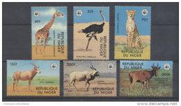 W29 WWF W.W.F. Niger MNH Wild Animals Stamps 1978 - W.W.F.