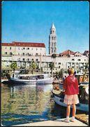 Croatia Split 1965 / Church, Boat, Adriatic Sea - Croacia