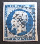 LOT R145/311 - NAPOLEON III N°14Aa Bleu Foncé - PC 1896 : MARSEILLE (Bouches Du Rhône) - 1853-1860 Napoleon III