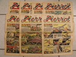 Pierrot  7 N° De 1938. Le Chasseur De Monstres Par Marijac. Le Rallic Ferraz Liquois Cuvilier Jeanjean Aviation Gervy - Pierrot
