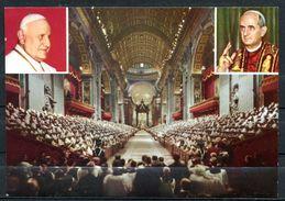 """CPSM Color AK Italien Roma """"Concilium Oecumenicum,Vaticanum II, Papst Paolo VI."""" 1 AK Blanco - Papes"""