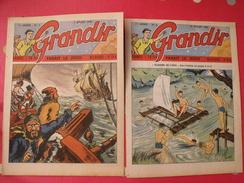 Grandir. 2 N° De 1949 ( 4,6). Olivier Le Preux, Doglock Holmès Par Calvo + Supplément Tour De France - Magazines