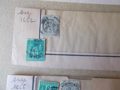 Obliteration AFFRANCHISSEMENTS Sur SAGE 5c Vert + 3 C Gris LYON 1887 + 1899    Beaufond 1652 1653 - 1876-1898 Sage (Type II)