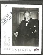 Sc # 2273 Art Canada: Yousef Karsh Photography, Winston Churchill, Int. Rate Single Used 2008 K296 - 1952-.... Règne D'Elizabeth II