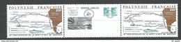 "Polynésie YT 311A Paire + Vignette "" Eric De Bisschop "" 1988 Neuf** - French Polynesia"