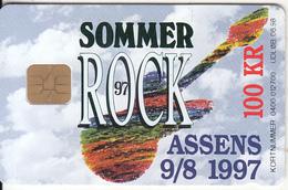 "DENMARK - Sommer Rock ""97, Danmont Telecard 100 Kr., Tirage 1099, Exp.date 06/98, Used - Danimarca"
