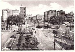 ANN.TARGHETTA TRIENNALE SU CART.MILANO PIAZZALE DELLA REPUBBLICA - Milano