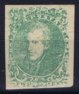 Confederate States Mi Nr 3   Sc Nr 3 Yv Nr 1  MH/* Falz/ Charniere,  1862 Thin - 1861-65 Confederate States