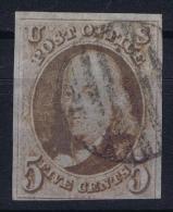 USA Mi Nr 1  Sc Nr 1 Yv Nr 1   Obl./Gestempelt/used  1847 - 1847-99 General Issues