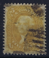 USA Mi Nr 19  Sc Nr 67 Brown Yellow  Yv Nr 20  Obl./Gestempelt/used - 1847-99 General Issues