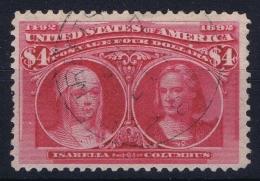 USA Mi Nr 87  Sc Nr 244 Yv Nr 95   Obl./Gestempelt/used 1893 Very Nice Light Cancel - 1847-99 General Issues