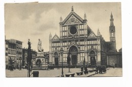 FIRENZE - CHIESA DI S.CROCE - STATUA DI DANTE 1932  VIAGGIATA FP - Firenze