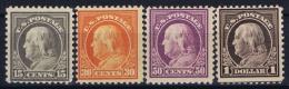 USA Mi Nr 236+238-240  Sc Nr 514+516-518 Yv Nr 212+214-216   Perfo 11 No WM Postfrisch/neuf Sans Charniere /MNH/** 1916 - United States