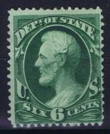 USA   Dept. Of State  Mi Nr 59  Sc Nr O 60  Yv Nr 13 MH/* Falz/ Charniere - Officials