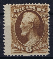 USA  Treasury Mi Nr 74 Sc Nr O 75  Yv Nr 85 MH/* Falz/ Charniere - Officials
