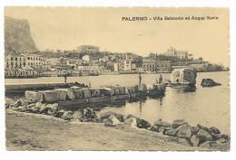 PALERMO - VILLA BELMONTE ED ACQUA SANTA 1909 VIAGGIATA FP - Palermo
