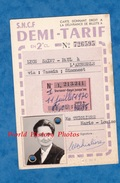 Carte D'identité SNCF Demi Tarif 2e Classe - 1970 - LYON Saint Paul à L'ARBRESLE Via Tassin , Simonest - Mme Thioliere - Titres De Transport