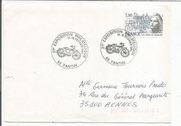 OBLITERATION EXPO PHILA MOTOS PANTIN SEINE SAINT DENIS 1981 - Poststempel (Briefe)
