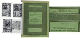 LIBRI ANTICHI  SOTHEBY & CO. SOTHEBY & CO. CATALOGUE OF OLD MASTER PAINTINGS, 5/7/1965  PERFETTAMENTE CONSERVATO - Biografia