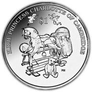 BRITISH VIRGIN ISLAND 2015 1 DOLLARO PRINCESS CHARLOTTE OF CAMBRIDGE - British Virgin Islands