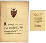 LE AVVENTUROSE NOZZE DI ELEONORA DE MEDICI CON GUGLIELMO GONZAGA ....25 GENNAIO 1584...CON INVITO ALLEGATO... - Biografia