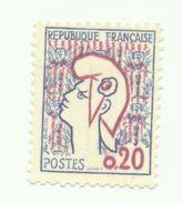 1282a - Type Marianne De Cocteau (1961)- Variété Type II - 1961 Marianne (Cocteau)