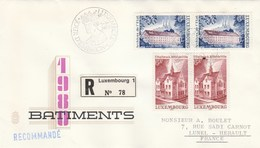 LUXEMBOURG FDC Sur Lettre Recommandée 5/3/1980 - Série Batiments - FDC