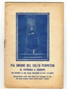AL PATRIARCA S.GIUSEPPE CULTO PERFETTO ...CHIESA S.GIUSEPPE DI FORLI' TIP. VALBONESI  FORLI' - Biografia