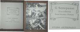 GIOIELLERIA G.SETTEPASSI PONTE VECCHIO FIRENZE  BIGLIETTO D'AUGURI  CON CALENDARIO 1965 DI GUIDO SETTEPASSI - Biografia