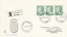 LUXEMBOURG FDC Sur Lettre Recommandée 25/2/1982 - Série Courante - FDC