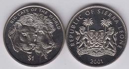 SIERRA LEONE 1 DOLLARO 2001 LEONE LION - Sierra Leone
