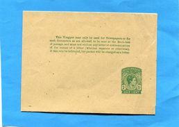 HONDURAS-bande Pour Journal-entier Postal-postal-stationnery-for News Papers 1c Vert Papier Crème King G VI Neuve - British Honduras (...-1970)