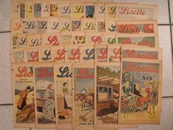 Lisette, Année 1940 Complète. Levesque Le Rallic Pouf Bourdin Souriau - Lisette