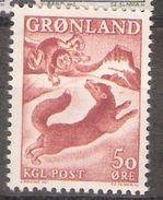 "Greenland 1966 Greenlandic Legends (III), Scene From The Legend ""From The Boy And The Fox"", Mi 66, MNH(**) - Grönland"
