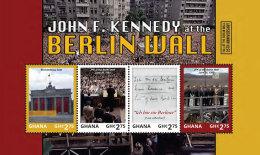 GHANA 2014 ** JFK John F. Kennedy Berlin Wall M/S - OFFICIAL ISSUE - DH9999 - Kennedy (John F.)