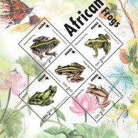 GHANA 2014 ** Frogs Frösche M/S II - OFFICIAL ISSUE - DH9999 - Frösche