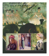 GHANA 2014 ** World Famous Paintings Degas Pissarro Hassam M/S I - OFFICIAL ISSUE - DH9999 - Künste