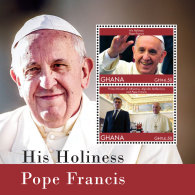GHANA 2014 ** Pope Francis Papst Franziskus S/S II - OFFICIAL ISSUE - DH9999 - Päpste