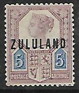 S.Africa, Zululand Overprinted On GB  5d, 1893, MH * - Zululand (1888-1902)