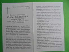 Zuster Cordula  Schoten / 'S-Gravenwezel - Religion & Esotérisme