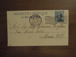 BIGLIETTO POSTALE  DA 25 CENTESIMI  15. IX. 1923 - 6. 1946-.. República