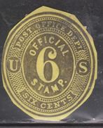UNITED STATES Scott # UO12 Used - Post Office Department Cut Square - Officials
