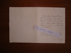 FAIRE-PART MARIAGE 1952 De CACQUERAY-VALMENIER # De COMBARIEU De POLINIERE DUBARLE La Buisse Isère Meknès Maroc - Mariage